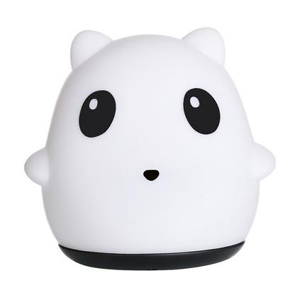 創意熊貓硅膠拍拍燈LED硅膠不插電小夜燈定制
