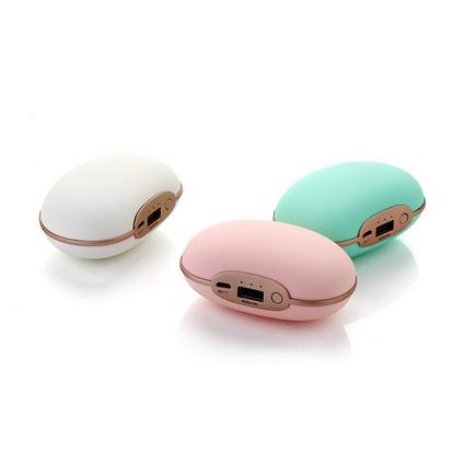 小豌豆震動按摩儀 迷你暖手寶 多功能移動電源+usb充電暖手寶定制