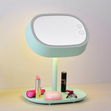 創意化妝鏡臺燈led梳妝儲物燈定制