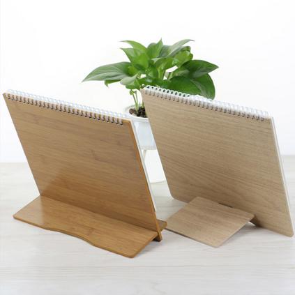 木质卡通台历架创意办公挂历日历单向历定做