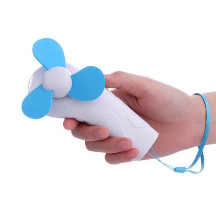 電筒造型手持風扇迷你靜音電池戶外隨身小風扇定制