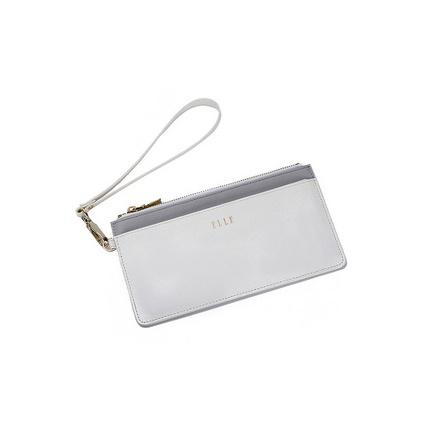 ELLE(她)长款便携卡包/手拿包 随身拉链钱包定制