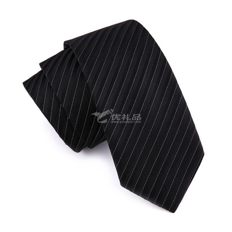 韩版商务7cm正装领带 男士涤纶丝领带定制