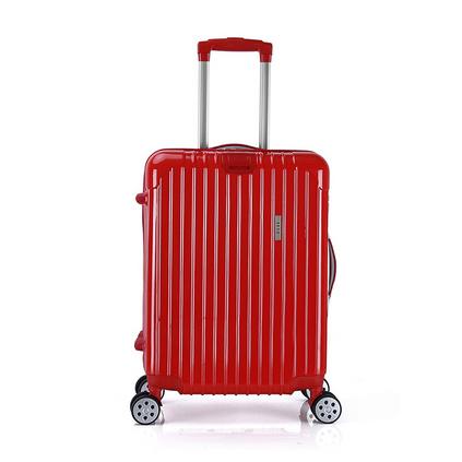 ELLE(她)20寸紅色萬向輪旅行拉桿箱外出登機箱行李箱定制