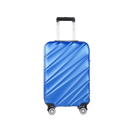 ELLE (她) 20寸 藍色萬向輪斜紋時尚拉桿箱商務時尚旅行箱定制