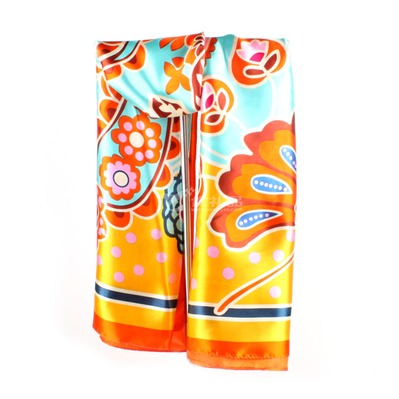 新款韩版披肩女士花卉夏季防晒围巾定制