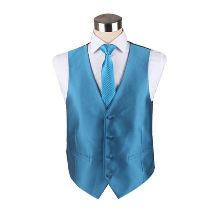 纯色工服马甲套装时尚潮流男士马甲领带定制
