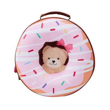 外交官Diplomat 時尚可愛 卡通頭像 兒童雙肩包 泰迪粉色甜甜圈背包定制