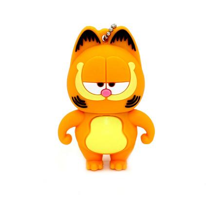動漫經典加菲貓8g創意卡通優盤 軟膠動物造型U盤定制