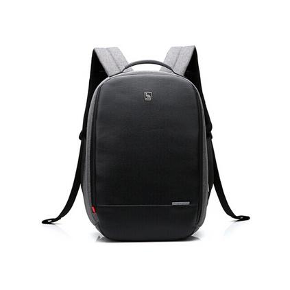 愛華仕(oiwas) 4338輯盜者系列商務防盜背包男電腦包雙肩時尚背包可擴展隔層商務包定制