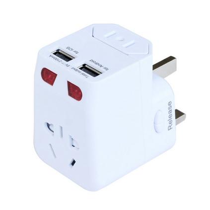 多功能全球通转换插座带USB旅行插座转换器定制