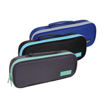 得力66646拉鏈筆袋文具盒大容量耐用可水洗學生筆袋定制