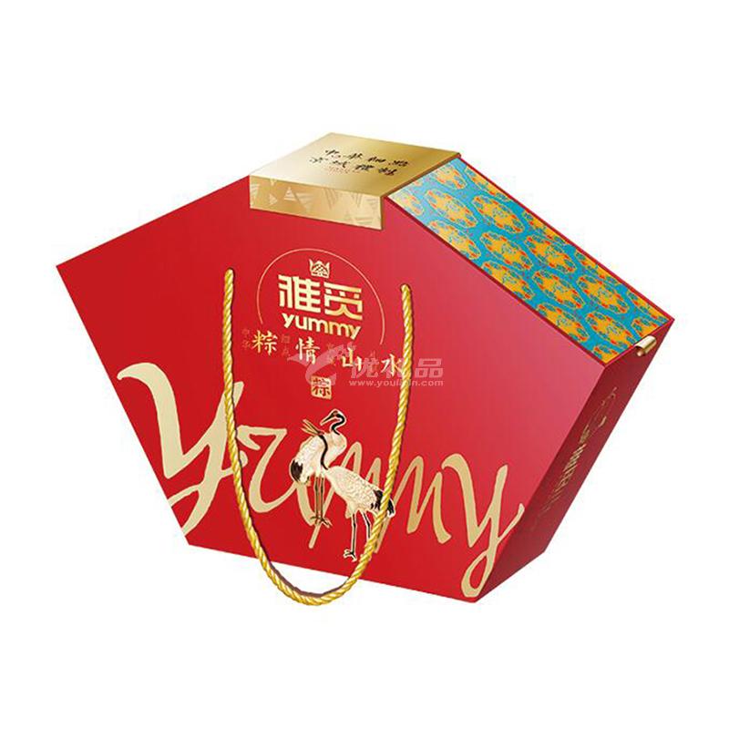 雅觅粽子礼?#34892;?#20013;式粽子粽情山水南北粽子端午节礼品定制