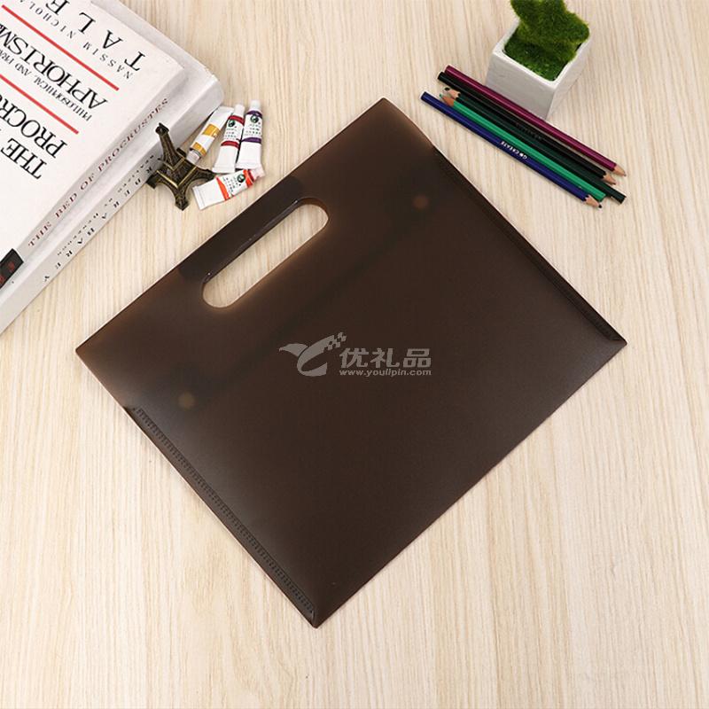 奧爾佳按扣式文件袋A4 商務會議定制公文袋塑料檔案袋辦公資料袋定制