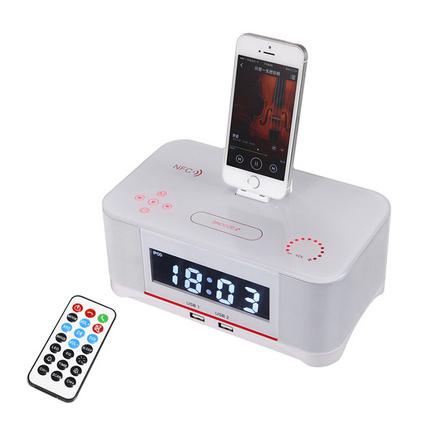 高端iphone6S/7/8蘋果底座音箱 酒店客房鬧鐘藍牙迷你音響定制