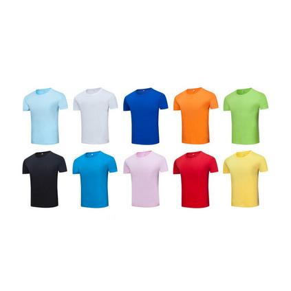 210g圓領精梳純棉T恤企業員工服可定制圖案顏色