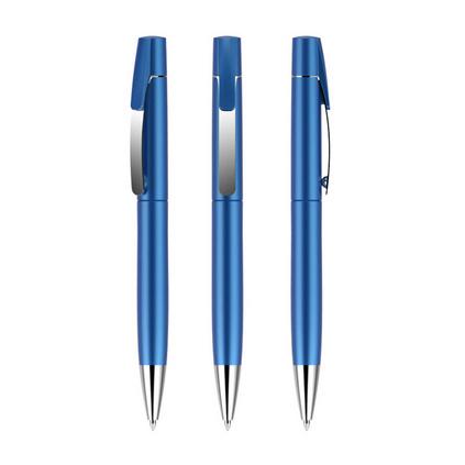 金属笔夹广告笔旋动商务简易圆珠笔定制