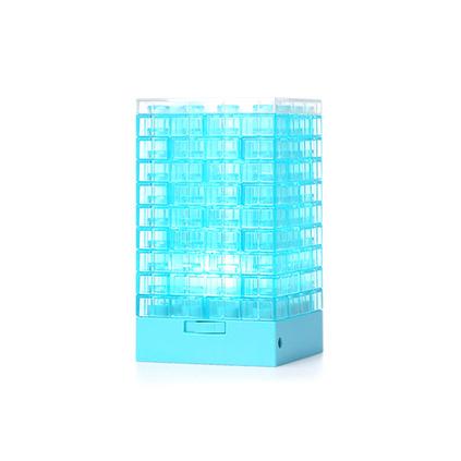 品利诺创意小礼品DIY积木小吧灯多功能笔筒小夜灯 USB台灯床头灯定制