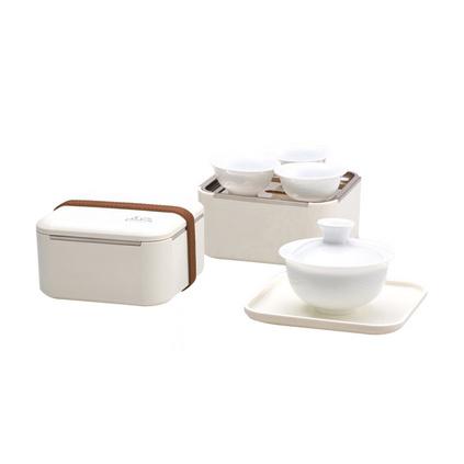 茶具套裝 陶瓷便攜式旅行戶外工夫茶具 一壺四杯茶具禮品套裝定制