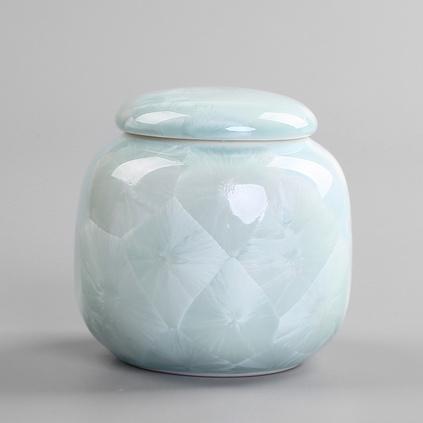 結晶釉茶葉罐 陶瓷密封罐 中草藥霜膏粉末化妝瓶定制
