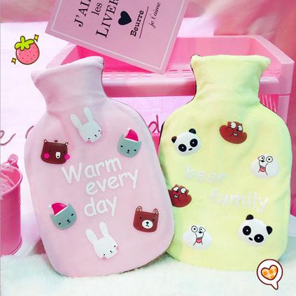 居家暖寶寶注水熱水袋暖手寶可愛卡通透明暖水袋定制