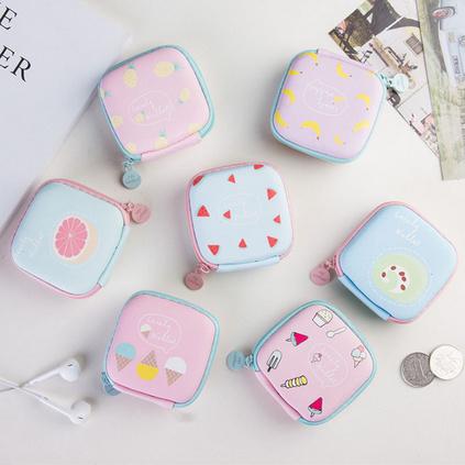 迷你可愛韓國小方包零錢包耳機包定制
