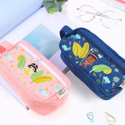 創意大容量可愛女生韓版簡約筆袋 文具袋拉鏈鉛筆袋定制