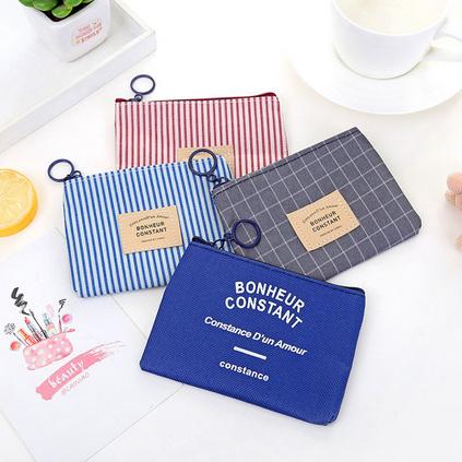 韓式布藝零錢包女士鑰匙包創意硬幣包迷你卡通帆布包定制