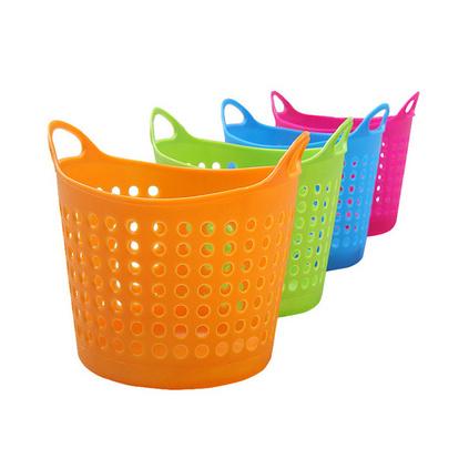 便攜式鏤空迷你桌面多用塑料收納籃雜物籃家居收納儲物籃定制