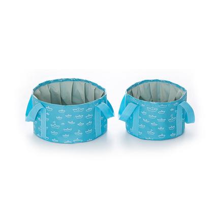 便携式可折叠水盆10L16L旅行旅游泡脚桶袋洗衣洗漱脸盆洗菜盆定制