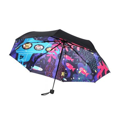 大嘴猴(Paul Frank)PFU005創意日用家居 時尚卡通晴雨傘三折八骨傘定制