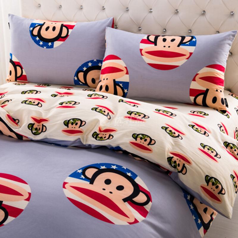 大嘴猴(Paul Frank) 創意卡通床上用品 四件套 聯盟 200*230cm定制