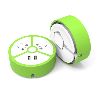 創意甜甜圈檸檬USB定時充電插座便攜旅行多功能收線插排定制