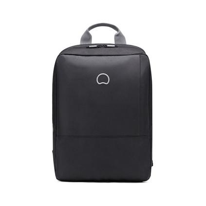 法国大使(delsey) 70350160000 背包电脑包 新款黑色双肩包 舒适背带商务旅行休闲 黑色书包定制