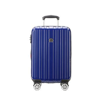 法國大使(delsey) 20寸 000244805 拉桿箱男女旅游行李箱出差登機箱萬向輪輕便旅游 藍色密碼箱子定制