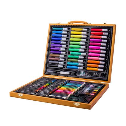 儿童画笔水彩笔绘画文具礼盒150件套装创意礼物生日礼品定制