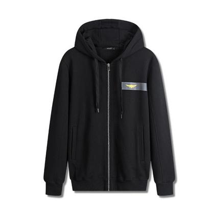新款男式運動衛衣純棉歐美簡約黑色外套定制