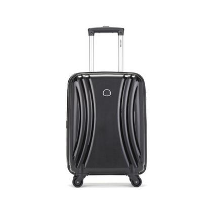 DELSEY法國大使021登機箱萬向輪拉桿箱男女行李箱旅行箱子防撬拉鏈密碼箱定制 黑色 20英寸