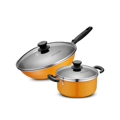 愛仕達(ASD) TZ02CT鍋具套裝 搪瓷二件套鍋 廚具套裝定制