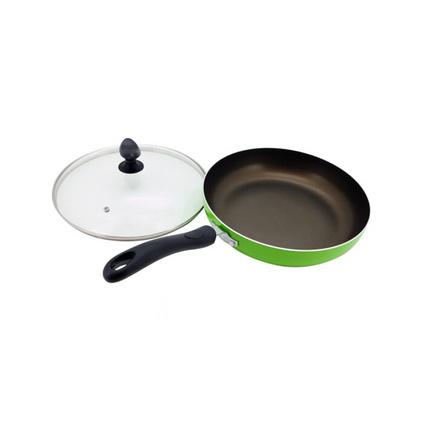 愛仕達(ASD)V8126E  26CM不粘鍋平底鍋煎鍋帶蓋兒煎鍋燃氣電磁爐通用炒鍋定制