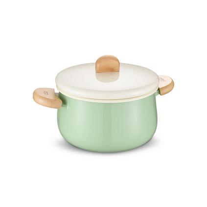 愛仕達(ASD)TT20A1Q 20CM湯鍋 洛歌沙搪瓷湯奶鍋 家用寶寶輔食煮面泡面鍋定制 燃氣灶明火專用