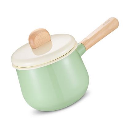 愛仕達(ASD) 奶鍋 14CM洛歌沙搪瓷奶鍋熱奶煮奶牛奶鍋NT14A1Q 泡面小湯鍋定制 1.9升薄荷綠