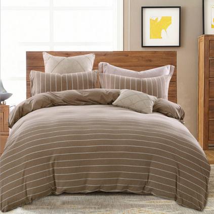 無印天竺棉四件套日式簡約針織棉全棉床單床上用品定制