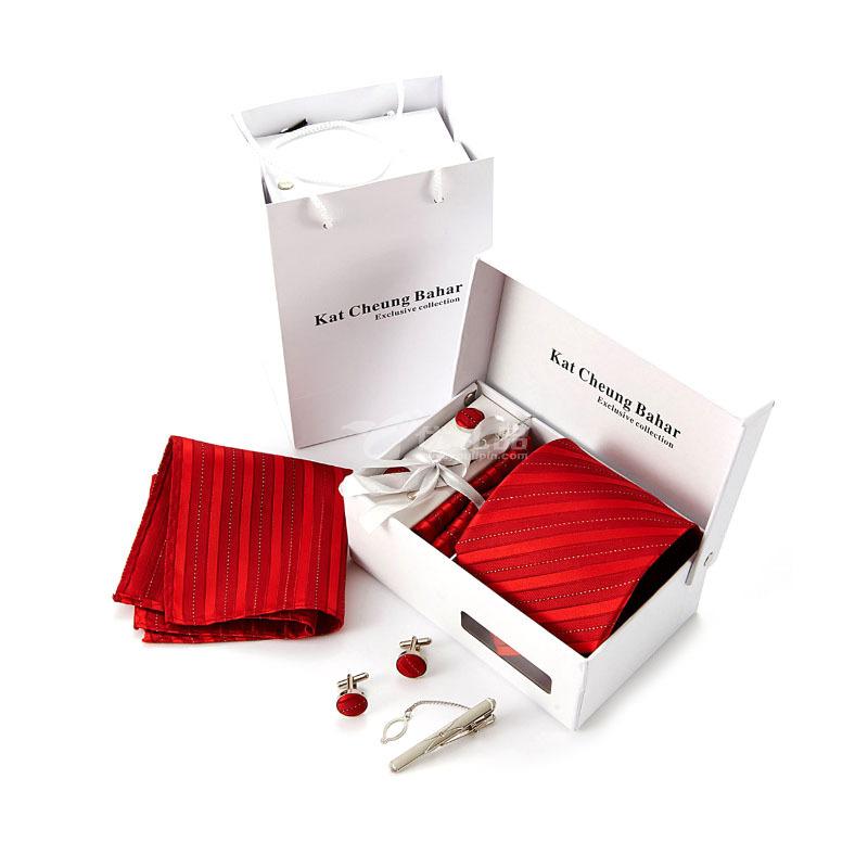 8.5CM商务领带男士领带套装 涤丝领带礼盒定制