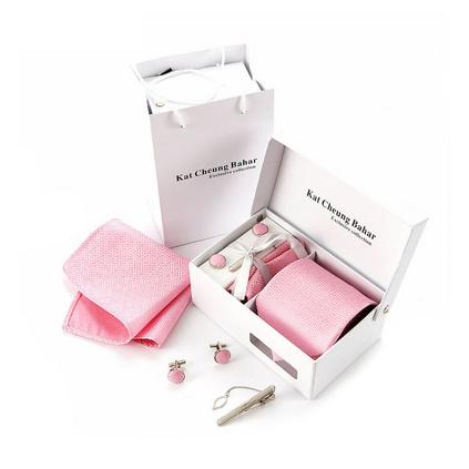 8.5CM商務領帶男士領帶套裝 滌絲領帶禮盒定制