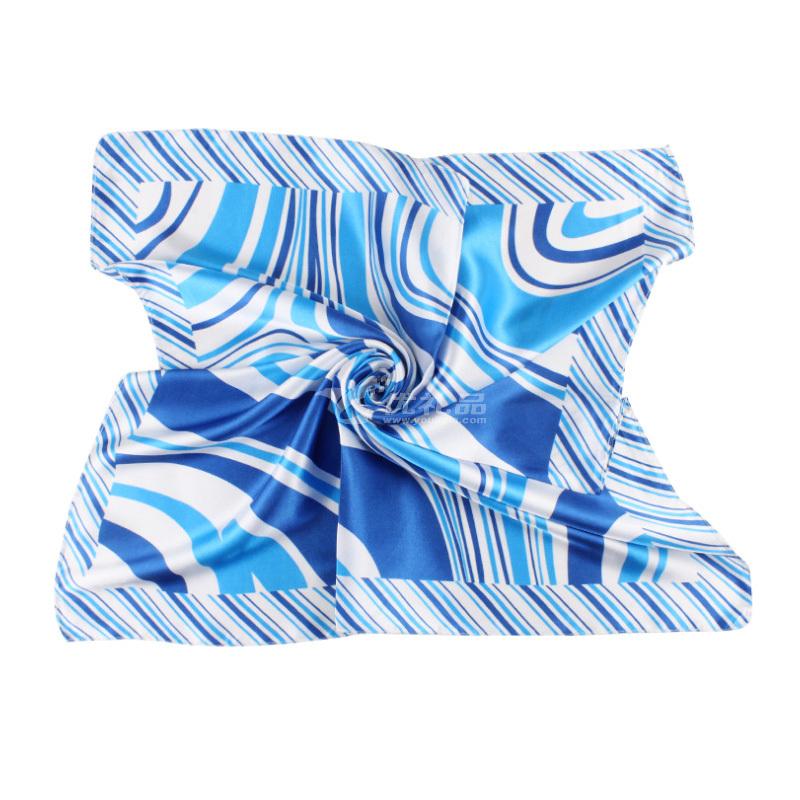 空姐絲巾時尚職業圍巾印花小方巾定制