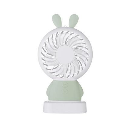 達摩熊玲瓏兔USB風扇可充電手持學生宿舍寢室便攜式隨身迷你風扇定制