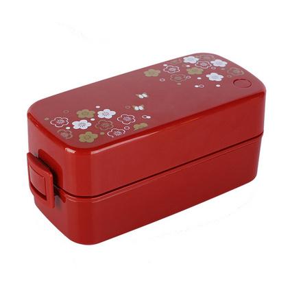 日本ASVEL學生日式便當盒雙層便可微波加熱午餐盒定制