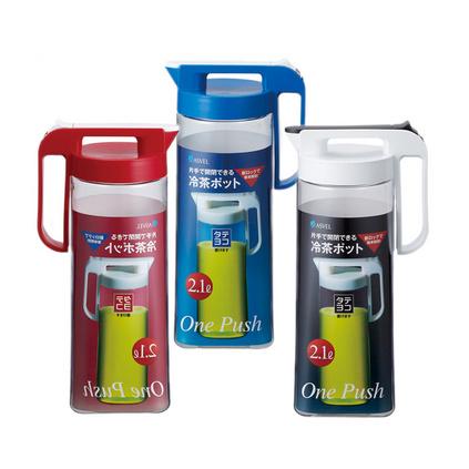 日本ASVEL冷水壶塑料家用大容量耐热凉水杯果汁壶冷水杯定制
