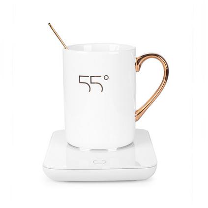 貝麗55度暖暖杯創意生日禮物辦公室加熱杯墊保溫恒溫杯定制